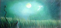 """""""Au clair de lune"""", oeuvre originale réalisée en technique acrylique. : Peintures par atelier-les-naturels"""