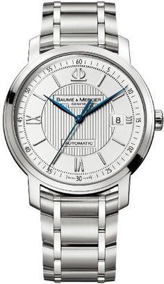 Baume & Mercier Men's A8837 Classima Silver Guilloche Dial Watch Baume & Mercier. $1945.00. Stainless-steel case. Stainless steel bracelet. Automatic movement. Silver dial. Water-resistant to 99 feet (30 M)