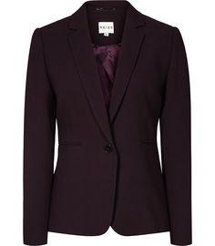 Camila Jacket Grape Textured Blazer - REISS