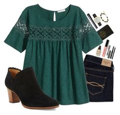 """""""Foresty"""" by brooklm ❤ liked on Polyvore featuring Tory Burch, Abercrombie & Fitch, Bobbi Brown Cosmetics, H&M, NARS Cosmetics, Kate Spade, Kendra Scott, Jack Rogers, women's clothing and women's fashion"""