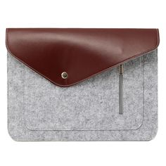 YUNAI Felt & Leather Laptop Bag Case Laptop Sleeve for Macbook 13 inch Notebook Protective Carrying Sleeve Bag Case Cover Shell Apple Macbook Pro, Macbook 13 Inch, Leather Laptop Bag, Laptop Accessories, Laptop Sleeves, Continental Wallet, Shells, Notebook, Bags
