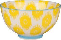 Yellow Ikat Ceramic Bowl. Paper Source $7.95