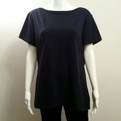 NWT American Living Navy Blue Boat Neck Top NWT American Living Navy Blue Boat Neck Top Retail $30 American Living  Tops Tees - Short Sleeve