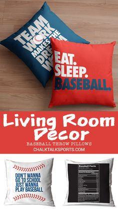 Create the ultimate room for your player or fan with our baseball room decor! Hit a home run in design with custom pillowcases, picture frames, or decals! Baseball Room Decor, Gifts For Baseball Players, Personalised Frames, Custom Pillow Cases, School Play, Room Signs, Eat Sleep, Bed Pillows, Pillowcases