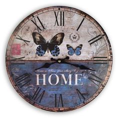 Reloj de Pared artesanal,  en http://ofeliafeliz.com.ar