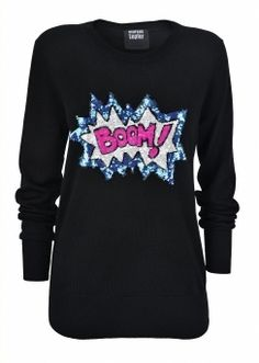 London Boutiques | BOOM! Wool Sequin Jumper