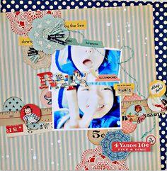 i love japanese scrapbook style.