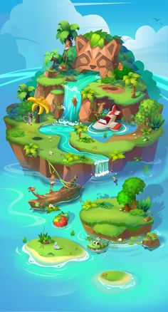 ArtStation - Tropical rain forest 01, DriedFish -W