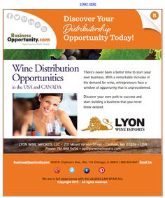 DISTRIBUTION WANTED Lyon Wine Imports Call Armando for more information at 781-888-5454 or visit them at http://www.lyonwineimports.com/?campaign=BizOppSocial