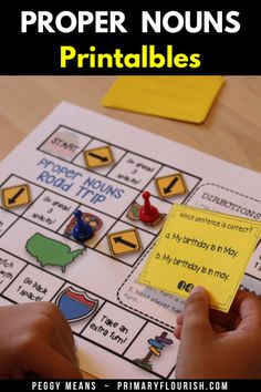 This Grammar Kit is packed with resources! Here is everything you need to teach/review proper nouns with your students. These engaging activities will help you guide your students through an Instructional Sequence (based on 'best practices') that will maximize their mastery of the standard and have lots of fun in the process! #TeachersPayTeachers #grammar #propernouns #partofspeech Grammar Activities, Kids Learning Activities, Learning Resources, Grammar Skills, Teaching Grammar, Teaching Second Grade, Third Grade, English Language, Language Arts