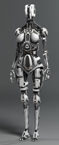 (35) Female Robot by Andrew Crawshaw | Robotic/Cyborg | 3D | CGSociety | Mechbots | Pinterest
