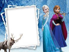"""Elsa & Anna"" from ""Frozen"" for iOS and Android, as courtesy of Walt Disney, via Webka Frozen Birthday Invitations, Frozen Birthday Party, Frozen Party, Cruise Scrapbook, Disney Scrapbook, Disney Frames, Autograph Book Disney, Kids Background, Birthday Frames"