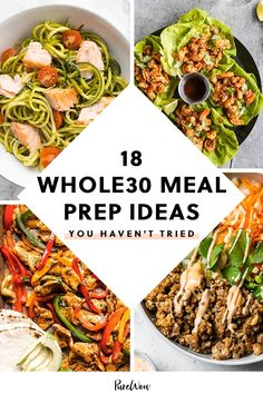 From coconut curry ramen to freezer-friendly fajitas, here are 18 meal prep ideas you haven't tried. Whole 30 Meal Plan, Whole 30 Lunch, Whole 30 Diet, Paleo Whole 30, Whole Foods, Whole Food Diet, Paleo Meal Prep, Lunch Meal Prep, Easy Meal Prep
