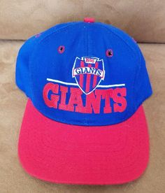 Vintage NFL New York Giants Hat SCRIPT Snapback cap THE GAME Blue red Football   #TheGame #NewYorkGiants