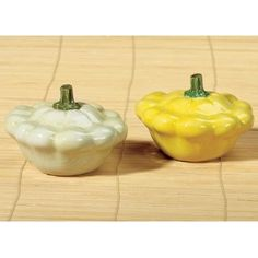 "From our Home Gourmet Collection we are proud to offer these incredibly realistic ceramic salt & pepper shakers. Artist designed and individually hand painted to mirror actual summer squash, this adorable salt and pepper shaker set features a .5+"" inch hole on the bottom with an easy to remove rubber stopper for easy refills."