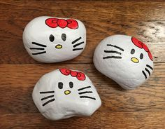 Painted Rock Hello Kitty Northeast Ohio Rocks! #northeastohiorocks