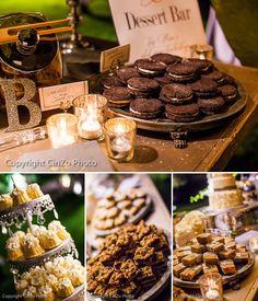 Wedding dessert bar ideas #rustic #wedding #desserttable #dessertbar #weddingideas