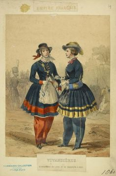 (French) Infantry Vivandieres, print dated Article: Daughters of the Regiment, by Susan Lyon Hughes. These are the women who inspired American regiments to accept Daughters of the Regiment