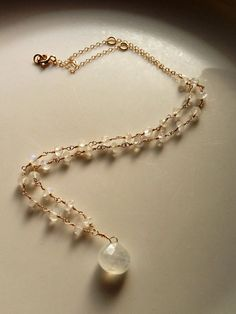 Moonstone Faery Necklace  on Etsy, $125.00