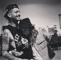Mike Fuentes and Mod Sun | I apologize for not saying this before, but it has come to my attention that I falsely labeled this picture, mistaking Mod Sun for Vic Fuentes. My sincerest apologies for any confusion. -N