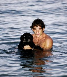 Ayrton Senna with his pet dog                                                                                                                                                                                 More