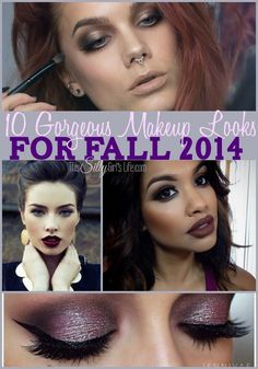 10 Gorgeous Makeup Looks for Fall 2014, get inspired with these beautiful makeup looks for fall! - ThisSillyGirlsLife.com Pinned over 134K times!