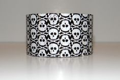 Black and White Skull Decoupage by uniquebymoniqueh on Etsy, $24.00