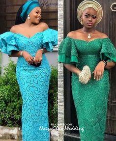 Nigerian Lace Styles Dress, Aso Ebi Lace Styles, African Lace Styles, Short African Dresses, Lace Dress Styles, Latest African Fashion Dresses, Long Dresses, Lace Styles For Wedding, Shoulder Dress
