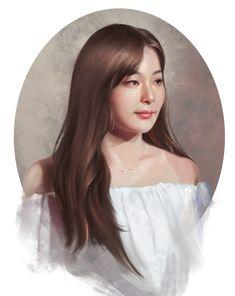 Colorful Drawings, Seulgi, Drawing Sketches, Sketch Art, Face Art, Kpop Girls, Red Velvet, Elsa, Disney Characters
