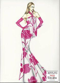 Seta e fiori per questo bellissimo abito. Figurino realizzato da Valentina dopo 6 mesi di corso. @ramazzottina119