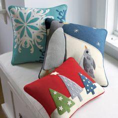 Felt holiday pillows