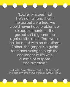 LDS Adversity Quote | Sheri Dew #hope #peace #trials sprinklesonmyicecream.blogspot.com