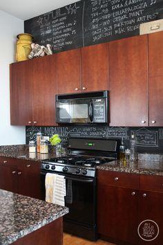 kitchen- I kinda like that chalk board (light-bulb)