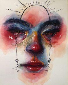 Cool Art Drawings, Art Drawings Sketches, Pretty Art, Cute Art, Arte Sketchbook, Ap Art, Psychedelic Art, Portrait Art, Portraits