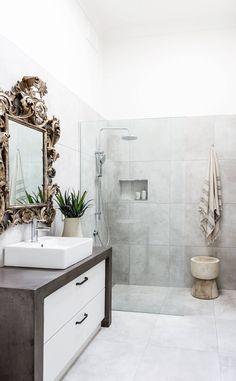 bathroom with shower interior design ideas Best Interior, Home Interior, Interior Design, Small Bathroom, Master Bathroom, Bathroom Ideas, Washroom, Condo Decorating, Decorating Bathrooms