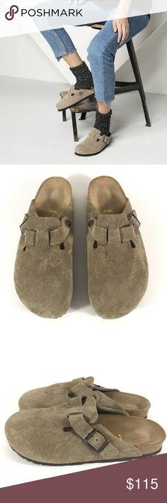 61744e50d2f3 Birkenstock Boston Clog Suede Mules Sandal In excellent condition Birkenstock  Boston Clog Suede Mules Sandal Size