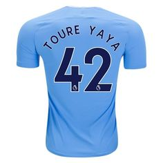 Nike Yaya Toure Manchester City Authentic Home Jersey 17/18
