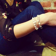 Great Stacked Pearl Bracelets! By JewelMak