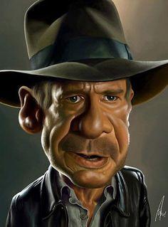 Harrison Ford - illustration of Alex Gallego