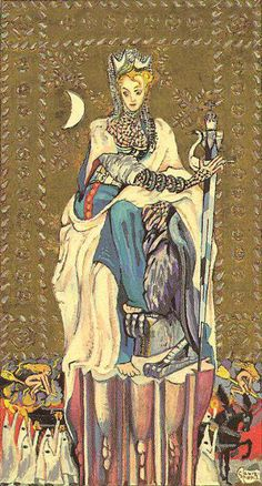 Queen of Swords--The Medieval Scapini Tarot
