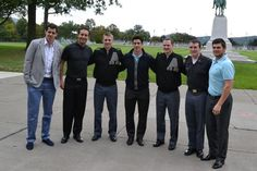 The Penguins' captains posing with Army captains at West Point  September 2013
