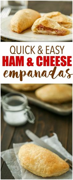 quick and easy ham and cheese empanadas that are perfect for a quick and delicious breakfast! Sponsored