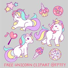 Risultati immagini per dibujos de unicornios kawaii faciles Real Unicorn, Unicorn Art, Rainbow Unicorn, Unicorn Pictures, Images Vintage, Free Hand Drawing, Unicorn Birthday Parties, Little Pony, Planner Stickers