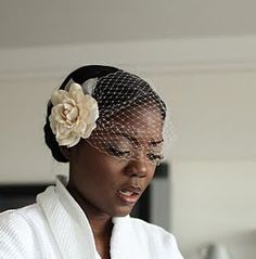 LolitaIvory gardenia hair piece with detach veil SALE by VelvetOwl, $56.00