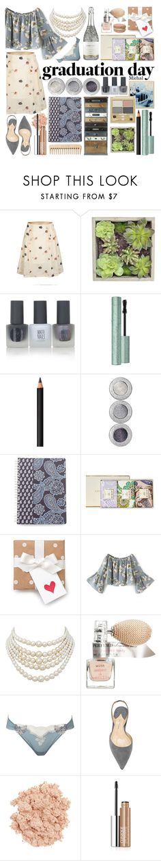 """Graduation Day Style"" by michal100-15-4 ❤ liked on Polyvore featuring WithChic, Gold Eagle, Topshop, Too Faced Cosmetics, INIKA, Vera Bradley, The Body Shop, AERIN, Christian Dior and H&M"