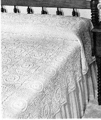 Bridal Wreath bedspread - Single Size - 70 x 106 inches Double Size - 92 x 106 inches - free crochet pattern