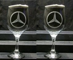 Etched wine glasses ....