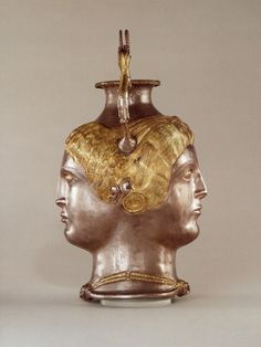 A Magnificent and Important Greek Late Classical Silver Janus-Headed Rhyton by Ancient Art, via Flickr