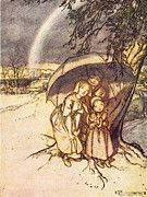 """New artwork for sale! - """" Rain Rain Go Away by Arthur Rackham """" - http://ift.tt/2oArf8q"""
