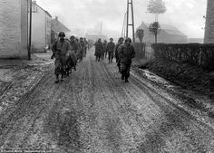 28th Infantry soldiers marching towards Bastogne - without their brave stand at the onset of the German offensive, the 101st Airborne may not have reached Bastogne in time and the war would have been prolonged